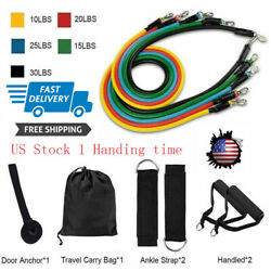 40x Set 11pcs Resistance Bands For Home Workout Exercise Yoga Crossfit Fitness