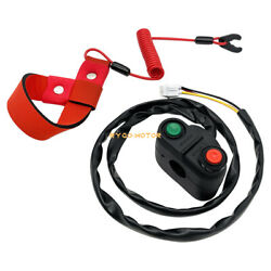 Start Stop Switch Andsafety Tether Lanyard For Kawasaki Jt900 Jt1100 Jt1200 Jt1500
