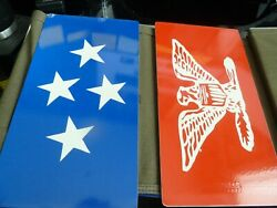 Us Post Wwii Army/air Force Set Of Distinguished Visitor Military Vehicle Plates