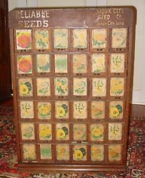 Great Antique Oak Sioux City Seed Pack Cabinet W Flower Packs 36 Drawers---15641