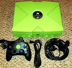 Limited Edition Mountain Dew Microsoft Xbox And Lime Jewel S Controller Rare Xbox