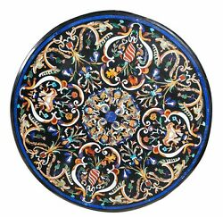 40 Round Center Table Top Marble Inlay Lapis Art For Home And Garden