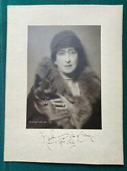 Antique British Royal Photo Signed King Edward Vii Queen Maude Norway And Dog 1922