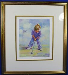 Lucelle Raad Signed Little Putter Limited Edition Lithograph Well Framed