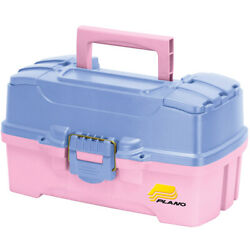 Plano Two-tray Tackle Box W/dual Top Access - Periwinkle/pink