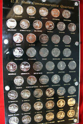 50-proof Clad Statehood Washington Quarters In A 8''x14'' Capital Coin Holder