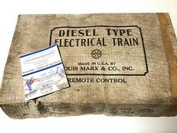 Marx Baltimore And Ohio 62 Locomotive Set With Box And Other Extras And Track