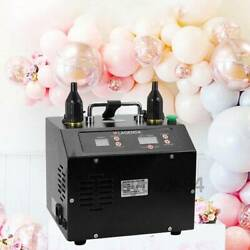 Electric Balloon Inflator Filler Portable Dual Nozzle Inflator Air Pump 110/220v