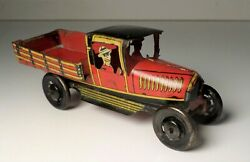 Vintage Paya Spain Tin Litho Open Bed Penny Toy Truck