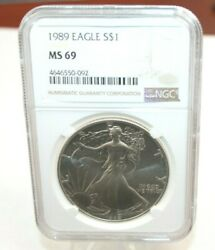 1989 Ngc Ms69 Silver Eagle [071wej]