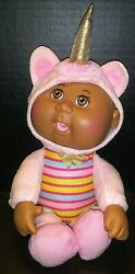 Cabbage Patch Kid 9 Baby Doll In A Pink Unicorn Costume