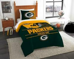 Green Bay Packers The Northwest Company Nfl Draft Full/queen Comforter Set