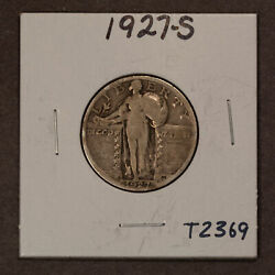 1927-s 25c Standing Liberty Silver Quarter - Vg Key Date - Value Coin - T2369