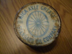 Vintage Mica Axle Grease 1 Pound Tin Can The Standard Oil Company