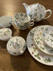 Wedgwood Wild Strawberry Cup Saucer Pots Etc.