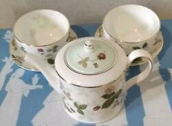 Including Postage Wedgwood Wild Strawberry Teapot Teacup
