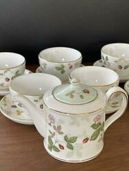 Wedgwood Wild Strawberry Cup Saucer Pot Japanese