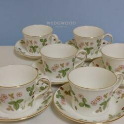 Wedgwood Wild Strawberry Cup Saucer Guests
