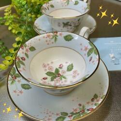 Wedgwood Wild Strawberry Bloom Cup Saucer Guests