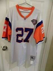 Mitchell And Ness Denver Broncos 27 Atwater Throw Back Jersey Nfl 75th Size 52