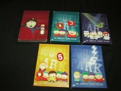 South Park Dvd Lot Of 5 Complete Seasons 2-6, 2 3 4 5 6 Comedy Central