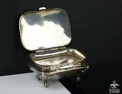Vintage Mexico Sterling Silver Victorian Footed Salt Cellar Signed Pg