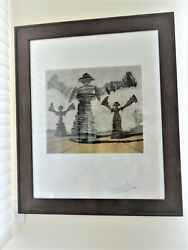 Salvador Dali The Spinning Man   Signed Etching   Frank Hunter Authenticated