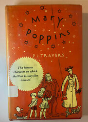 Vintage Hb Childrens Book Mary Poppins Travers Dust Cover 1962 Classic Disney