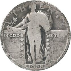 1928 Standing Liberty Quarter 90 Silver About Good Ag