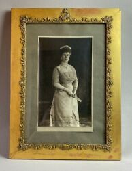 Antique British Royal Presentation Coronation Photo Signed Queen Mary 1911