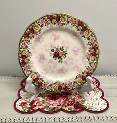 🌹 Rare 2002 Royal Albert Old Country Roses Peach Damask Salad Luncheon Plate 🌹