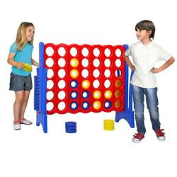 Yard Games Giant 4 In A Row Game Big Fun For Adults Teen Connect Party Blue