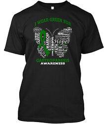 Teespring I Wear Green For Gastroparesis Classic T Shirt 100% Cotton