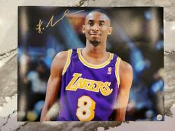 Kobe Bryant Autograph Rookie Year 11x14 Picture With Loa🔥🔥