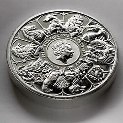 2021 Queenand039s Beast Collection Coin 2 Oz 9999 Silver Uk Coin Brexit Griffin Lion