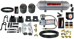 Air Over Load Helper Spring Kit White Gauge And Tank For 2005-2010 Ford F250 2wd