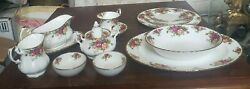 61 Pieces Royal Albert Old Country Roses China Place Settings And Serving Pieces