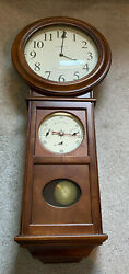 625-399 Retired Howard Miller Crowley Wall Clock Dual Chime + Weather Station 82