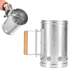 Chimney Starter Grill Steel Fire Lighter Stove With Handle Picnic Compact