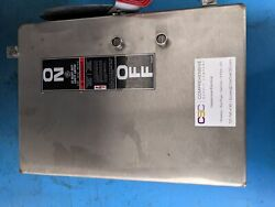 Th3361ss316 - Ge 30a Amp 3p Pole 600v Fusible Nema 4x 316 Ss Safety Switch - Nnb