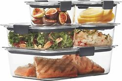 Rubbermaid Brilliance Leak-proof Food Storage Containers With Airtight Lids New