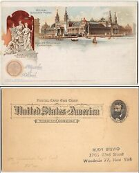 Us Ux10 Unsent Colorful Postcard Of The World's Columbian Exposition