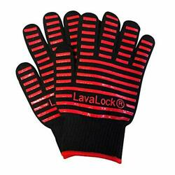 Bbq Grilling Cooking Anti-heat Gloves, Durable Silicone Insulated Protection