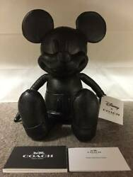 Coach 75th Anniversaryxdisney Mickey Mouse Doll S Size Leather Plush Doll F59151