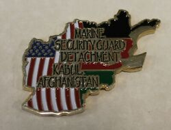 Marine Security Detachment Kabul Afghanistan Protecting Infidels Challenge Coin