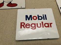 Mobil Regular Gas Pump Sign Hard To Find Small One