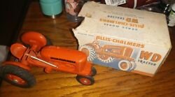 Vintage Product Miniatures Allis Chalmers Wd 1/16 Plastic Toy Farm Tractor Box