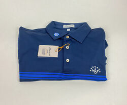 Nwt Peter Millar Scotty Cameron Circle T Menand039s Navy Blue Polo Shirt Size Large
