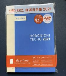 Life Book Hobonichi Techo 2021 DAY FREE Planner Diary BLUE New A6 $26.99
