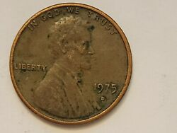 1975 D Lincoln Cent X4 With Dd Obv And Rev...circulated. Bank 🏦 Roll Search